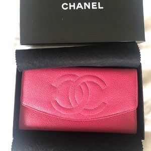 Chanel fushia clutch/wallet